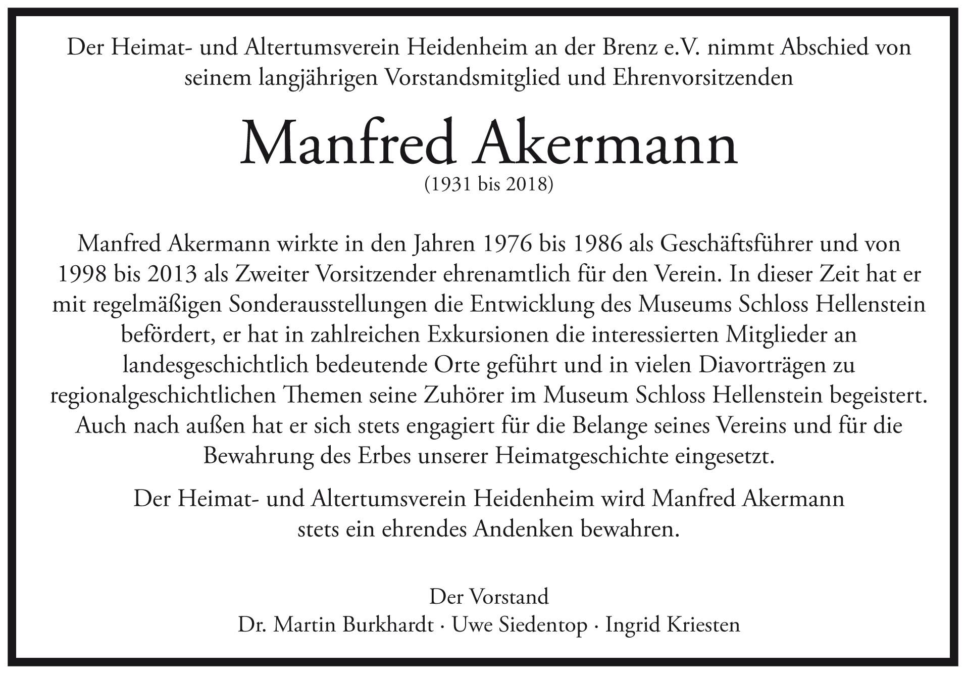 Manfred Akermann