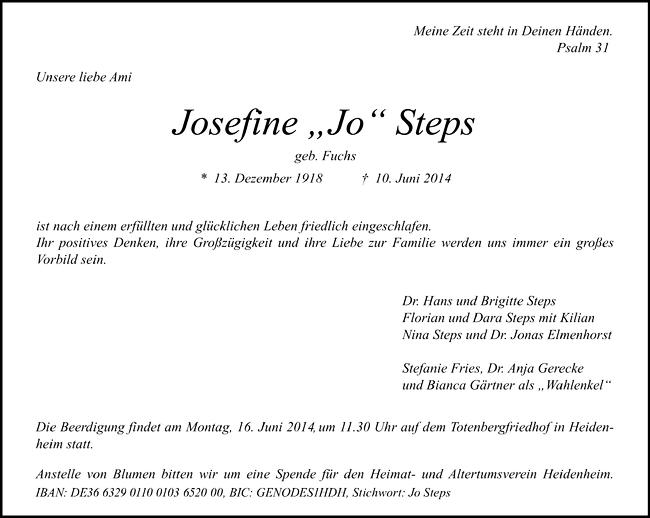 Josefine »Jo« Steps